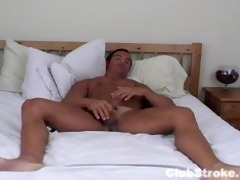 muscular str lad rock masturbating