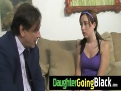 fresh black stepdad punishes hot daughter for