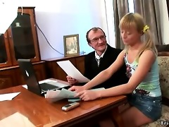 horny schoolgirl bonks her teacher to get an a.