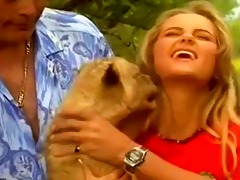 3 wildlife experts fuck a young blond girl