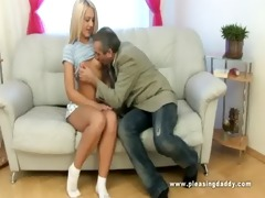 youthful blond slut copulates her old coach