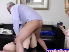 british hotties threeway pleasure with old man