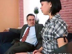 sonia wants to feel her teachers cum inside her