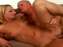 lucky granddad enjoying hot sex with legal age