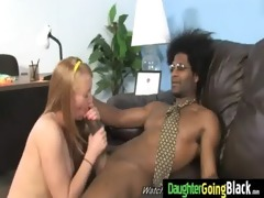 young daughter with worthy ass drilled by a black