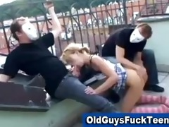 old boyz oral-service by hot younger babe