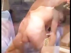 hung dad wanks,rims,face fucks then raw breeds a