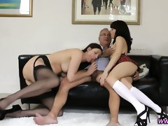 threeway dilettante nubiles receive fucked