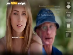 old farmer stud acquires drilled by blonde hottie