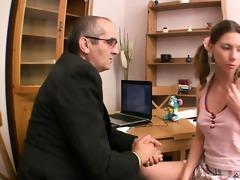 beautiful sweetheart is sucking teacher\s schlong