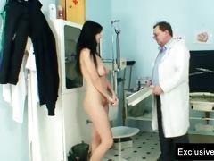 adriana visiting gyno doctor for vagina gyno exam
