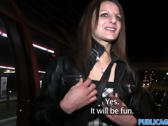 publicagent romana gets her tits out in public