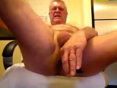 kinky oldman solo cock and ass fun