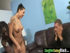 youthful daughter with fine gazoo drilled by a