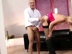 classy blonde fucked by old stud