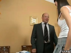horny teacher copulates coeds.