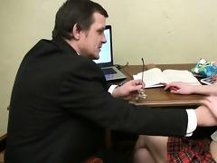 tricky teacher seducing ravishing student
