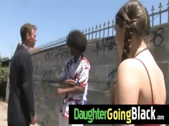 see my daughter taking a hard black dong 9