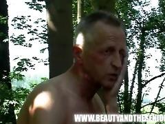 busty bushy gal fucked by an old guy