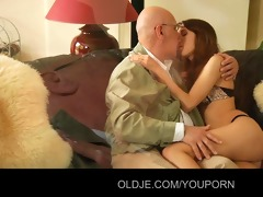horny juvenile hottie fucks her old spouse