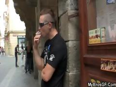czech golden-haired gf cheating him