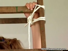 busty mother receives bondage by her