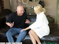 nurumassage concupiscent blonde cuckold massage