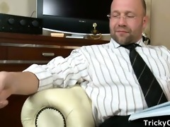 irinas face covered with teachers cum.