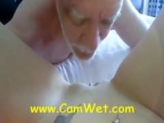 daddy angel being licked