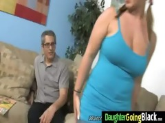 watchung my daughter getting fucked by black