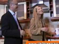 young blonde stripping for old guy