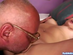 hottie is licking old boys a-hole