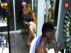 big brother africa hotshots shower hour - goitse