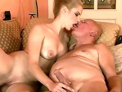 very old grandpa fucks young beauty