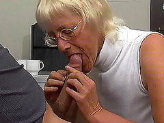 old chick enjoys young cock