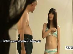 subtitle enf japanese bikini idol undresses nude