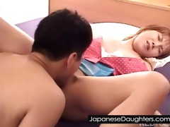 cute japanese daughter fucked right into an