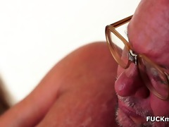 horny older man and his younger girlfriend