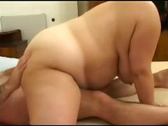 fat big beautiful woman lady engulfing and