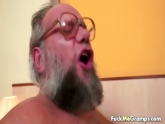 fortunate old bastard bangs enjoyable cutie