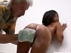old man and youthful oriental babe