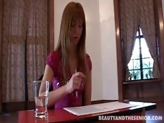 redhead seduces her professor to pass exam