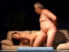 young gal takes old man dick