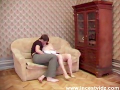 enchanting lascivious mother throws herself on