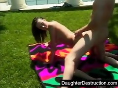 youthful girl pounded hard by big cock