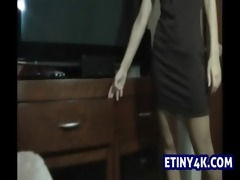 step sister stripping in front of me