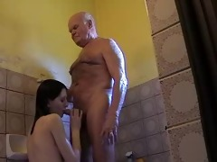very old old man mireck and young girl