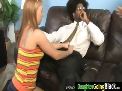 young daughter gets pounded by large black