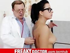 czech brunette kirsten plant odd doctor gyno exam
